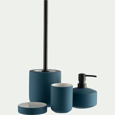 Porte brosse à dent en grès - bleu figuerolles-CISTE