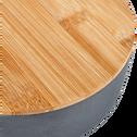 Saladier en fibre de bambou gris D15,2cm-TREZ