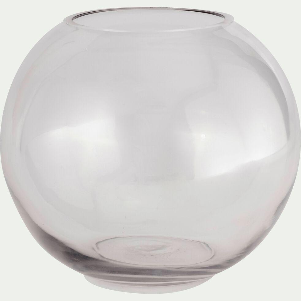 Vase boule en verre - transparent D30cm-CERS