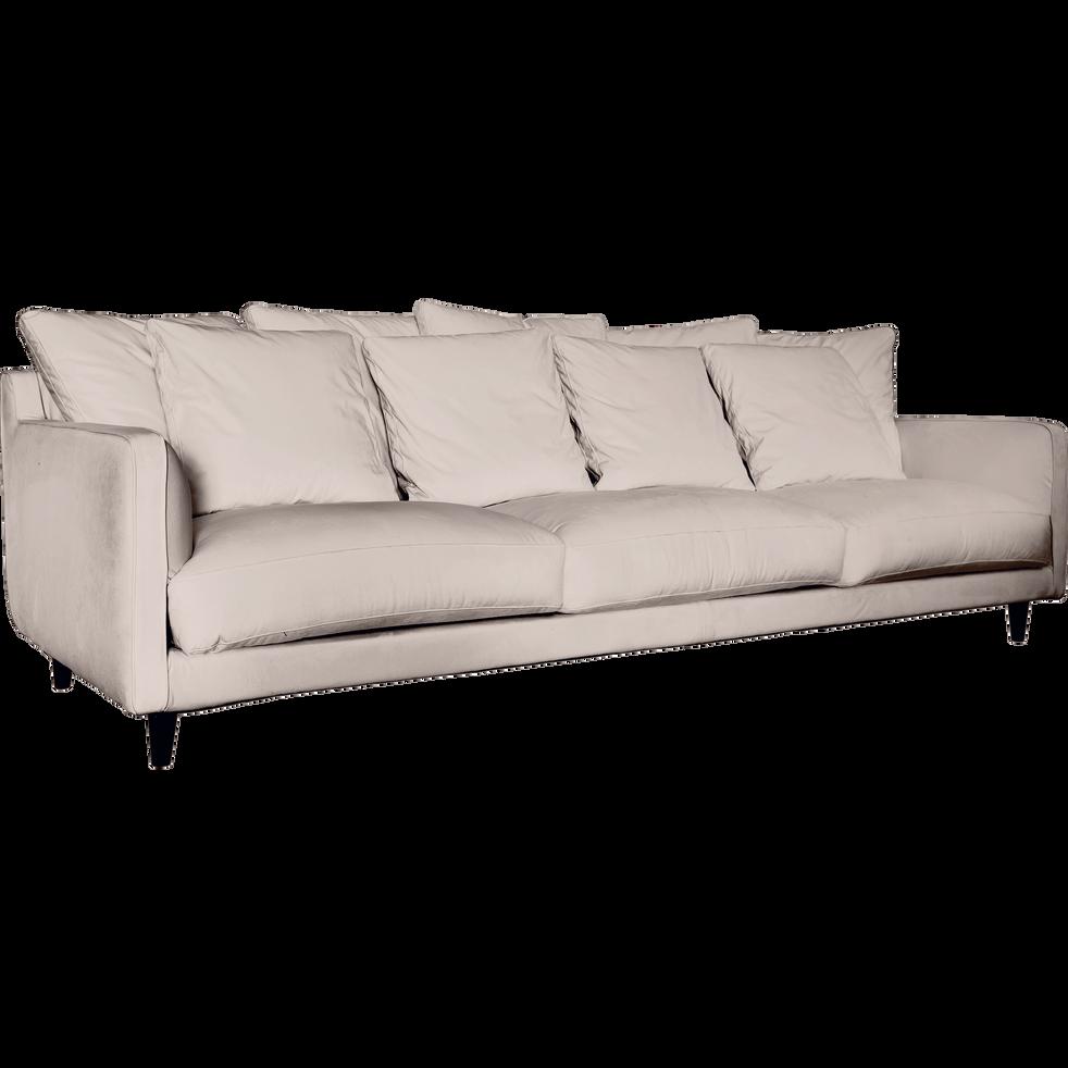 canap 6 places fixe en velours rose gr ge lenita la s lection velours alinea. Black Bedroom Furniture Sets. Home Design Ideas