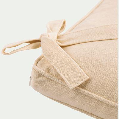 Galette de chaise carrée en coton beige roucas 38x38cm-BORMES