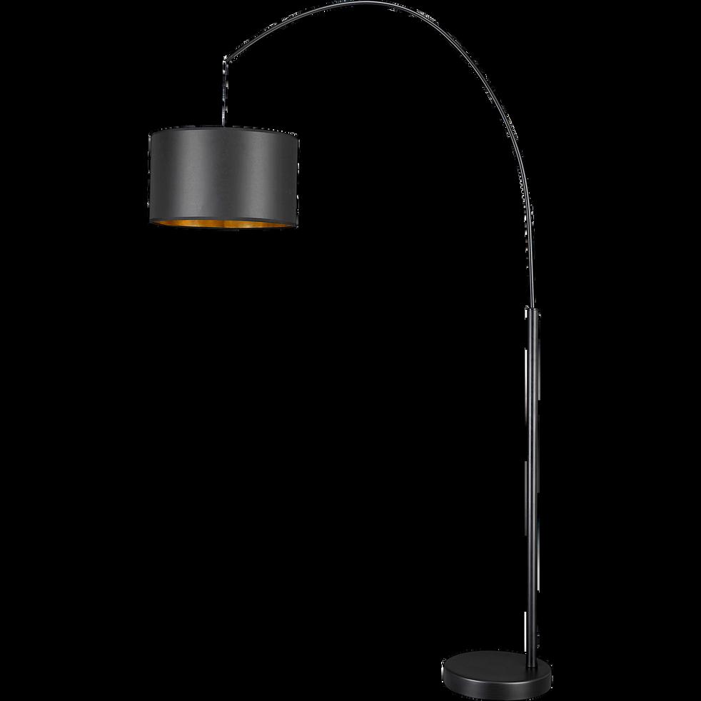 Lampadaire arc extensible en acier noir H198cm-GERONE