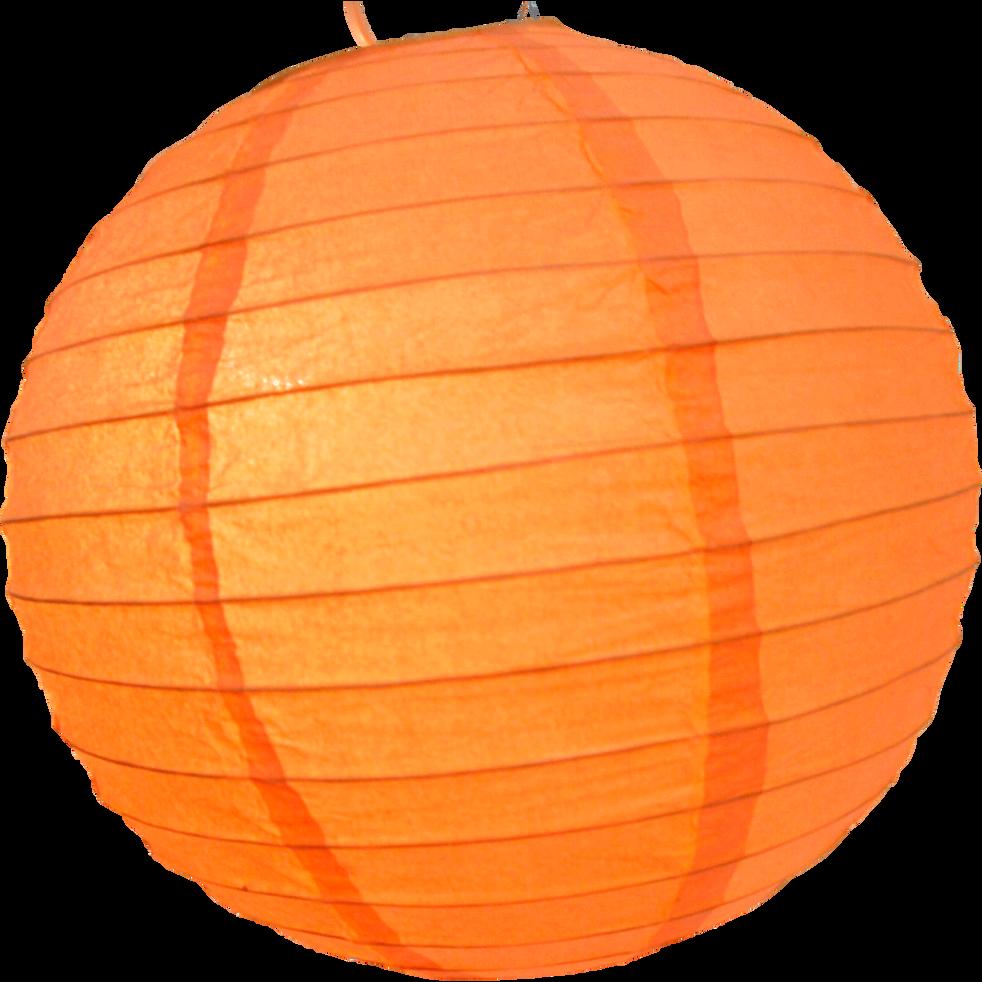 Boule japonaise en papier orange D30cm-PAPEL