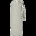 Drap housse en percale de coton Vert olivier 160x200cm bonnet 25cm-FLORE