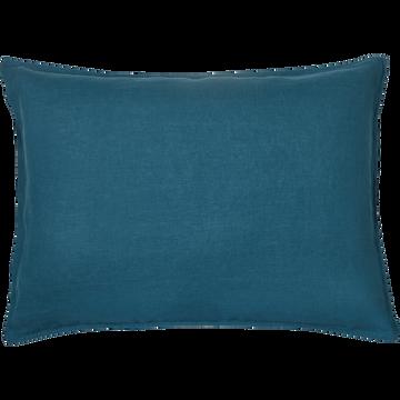 Lot de 2 taies d'oreiller en lin Bleu figuerolles 50x70cm-VENCE