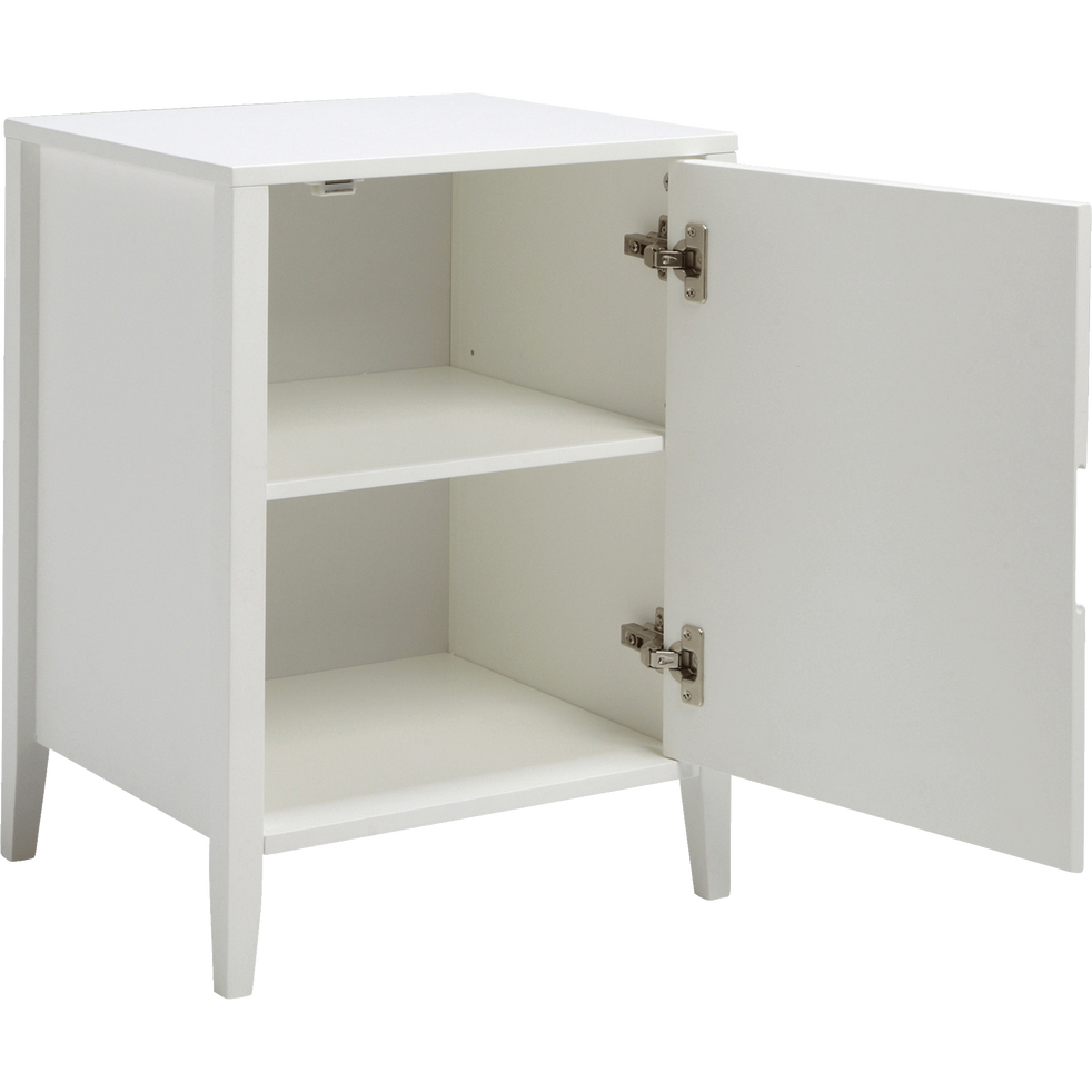 bout de canap blanc avec rangement misso bouts de canap alinea. Black Bedroom Furniture Sets. Home Design Ideas