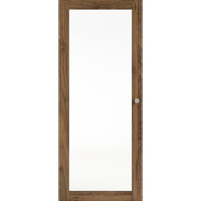 Porte vitrée coloris noyer-BIALA