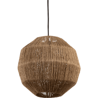 Suspension ronde en jute D30cm-SOPHIA