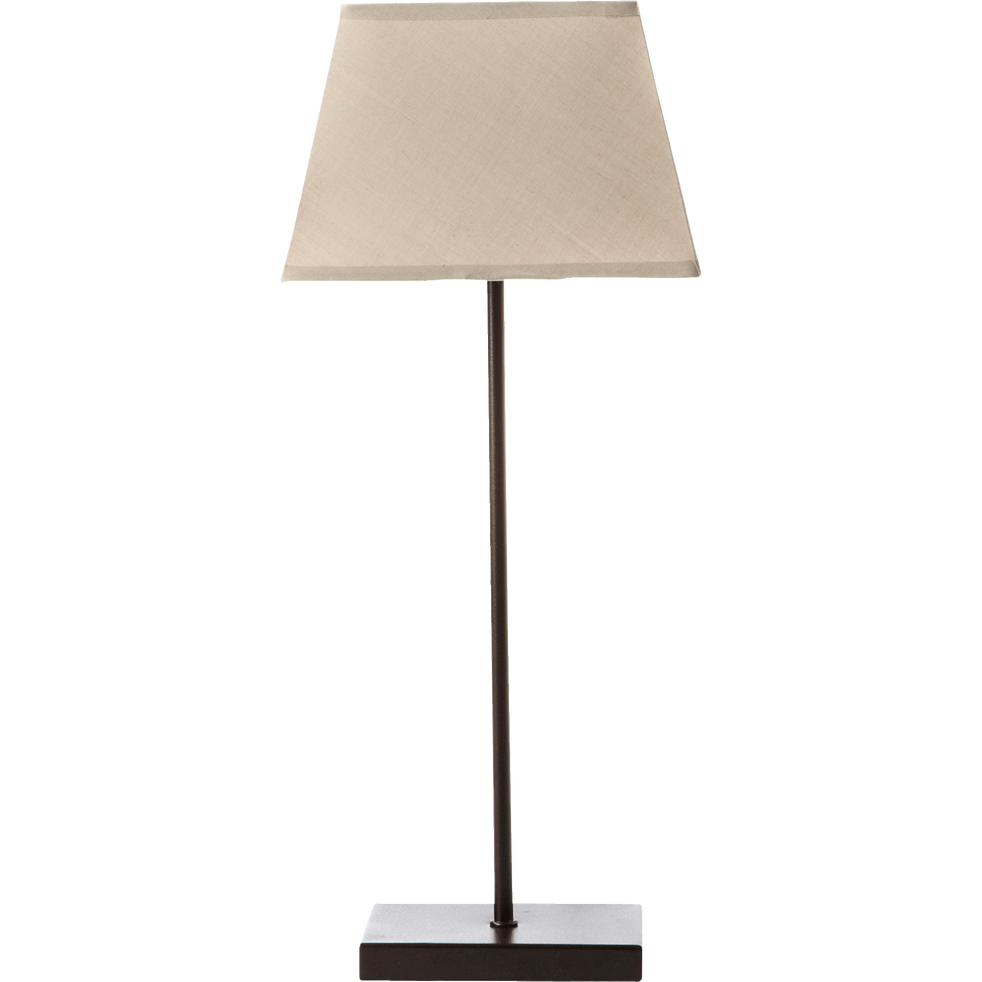 lampe m tal avec abat jour taupe clair h47cm svelta. Black Bedroom Furniture Sets. Home Design Ideas