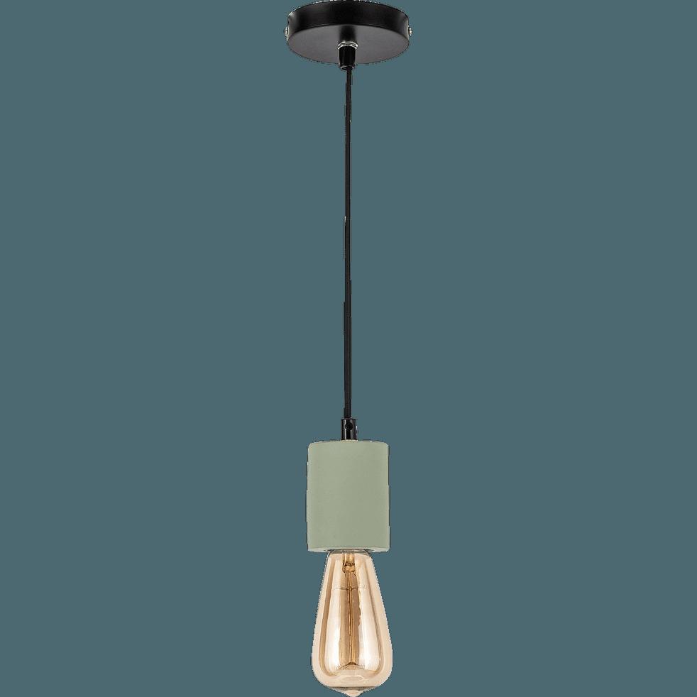 Suspension en béton vert olivier H8,5xD6,5cm-PRAO