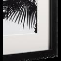 Image encadrée noir et blanc 30x40cm-VULCANO