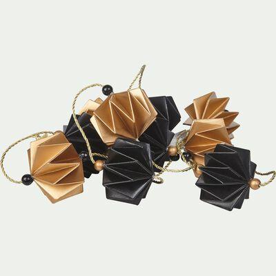 Guirlande décorative origami or et noir L182cm-COLLIER