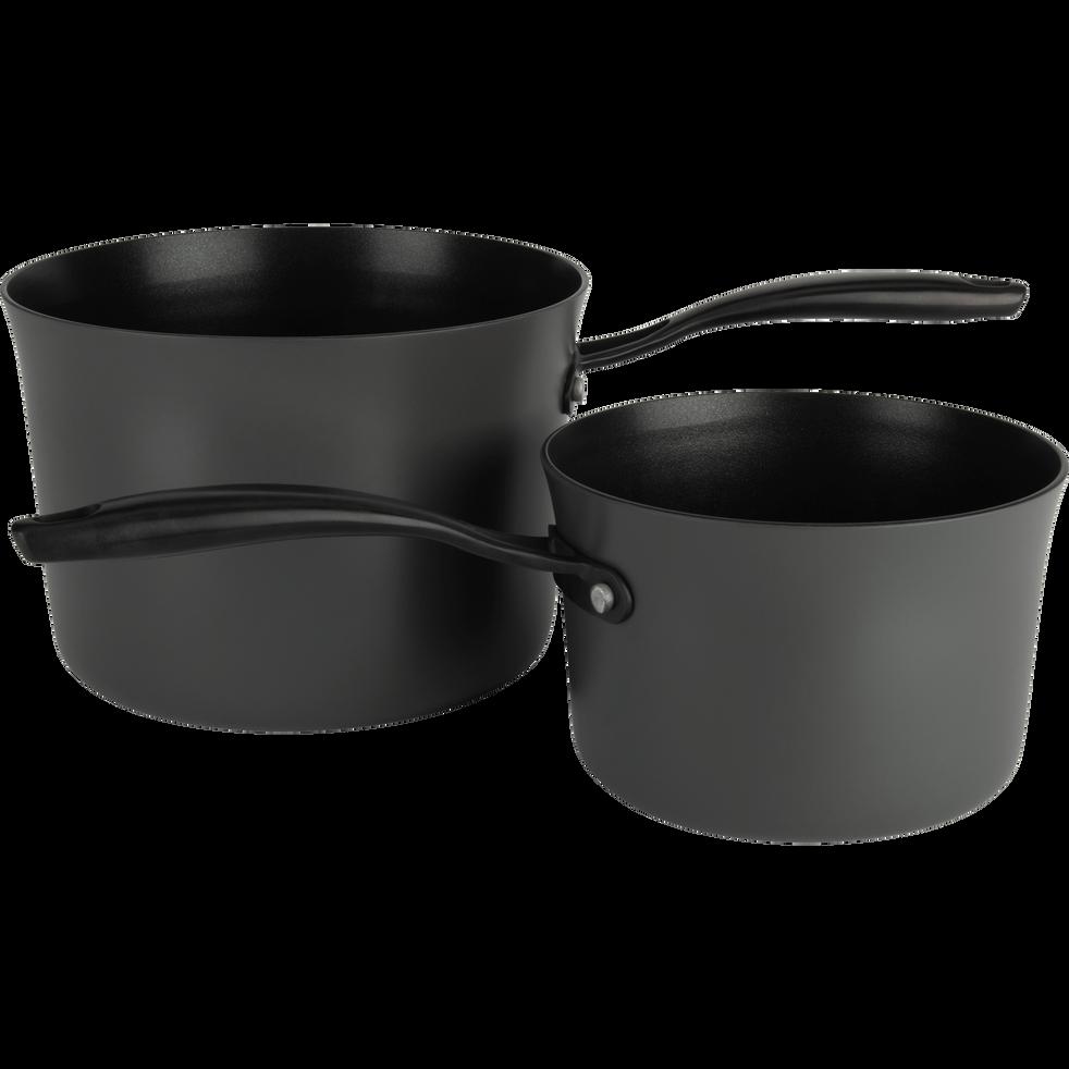 Casserole anti-adhésif grise D16cm (tous feux dont induction)-ESCAL
