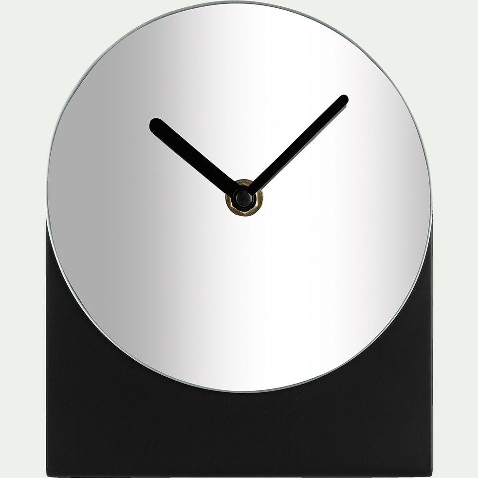 Petite horloge sur pied noir H18 cm-TIME
