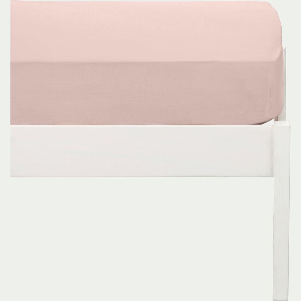 Drap housse enfant en coton 90x170+B15cm - rose rosa-Calanques