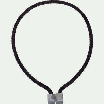 Embrasse magnétique en viscose et bois - noir-ZORA