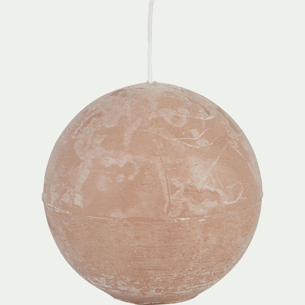 Bougie ronde - rose argile D10cm-BEJAIA