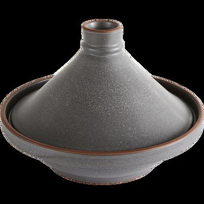 Tajine noir en grès D28cm-DARKSTONE