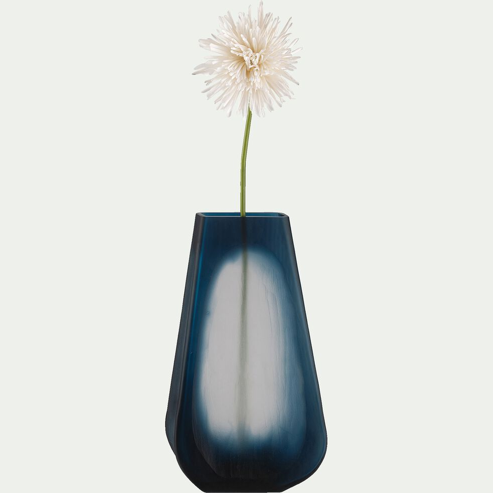 Vase en verre poli - bleu H32cm-BRANKO