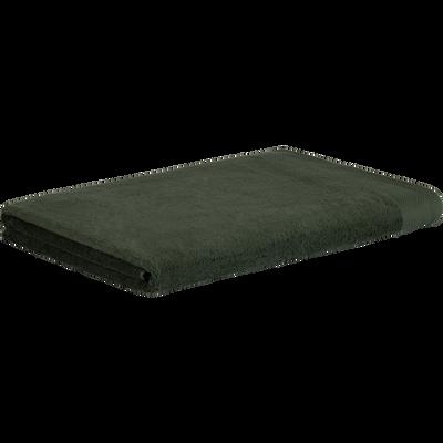 Drap de bain en coton 100x150cm vert cèdre-AZUR