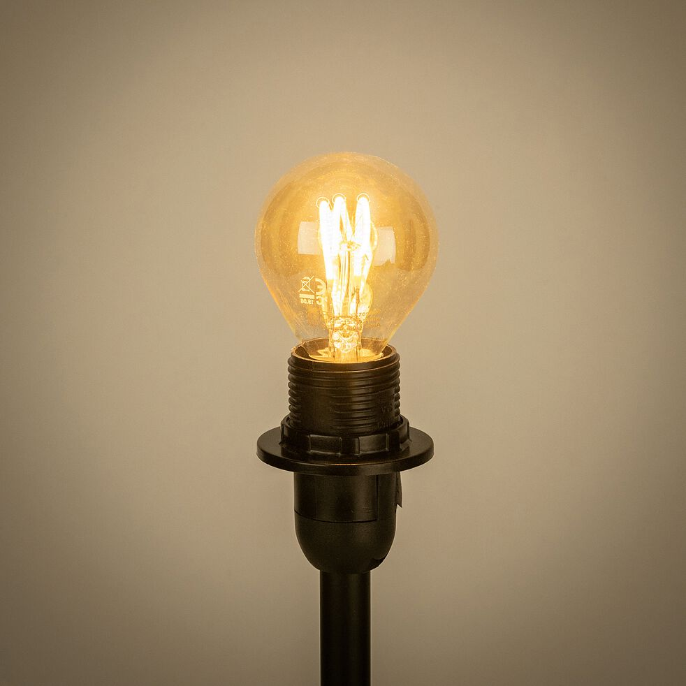 Ampoule déco LED à filament blanc chaud - teintée ambre 7,80cm-SPIRALE