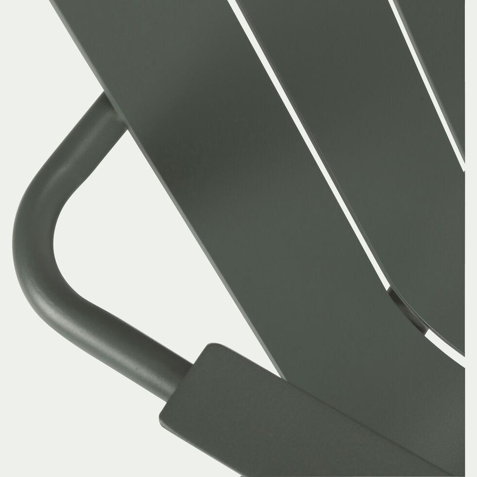 Fauteuil de jardin aluminium avec accoudoirs vert cèdre-PARADOU