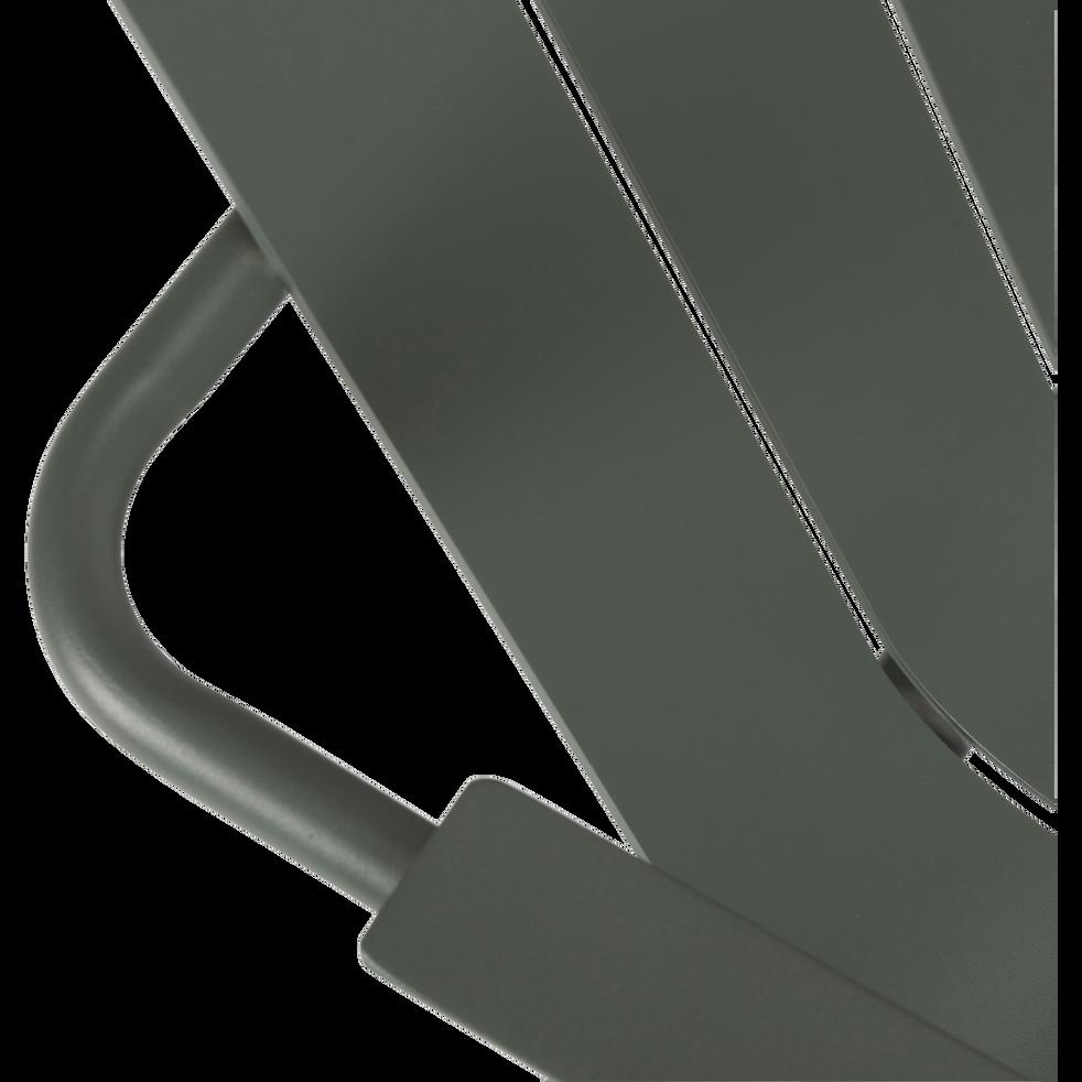 Fauteuil de jardin aluminium vert cèdre-PARADOU
