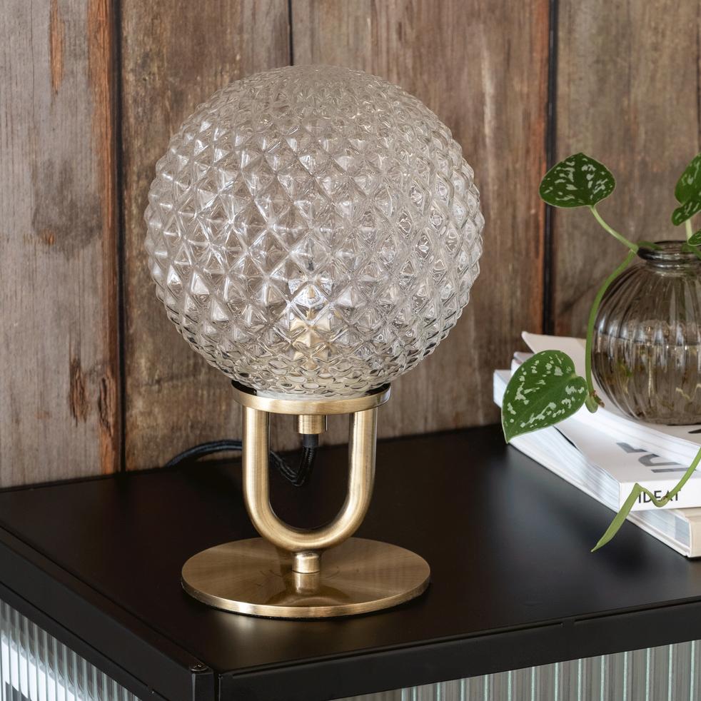 Lampe à poser en verre D15xH23,5cm-GABIAN