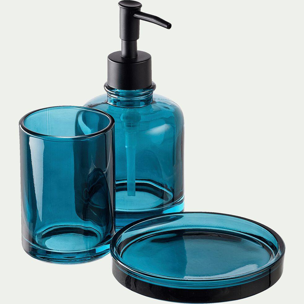 Gobelet en verre - bleu H10cm-OSCO