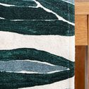 Chemin de table motif feuilles en coton - vert 150x150cm-SARGAN