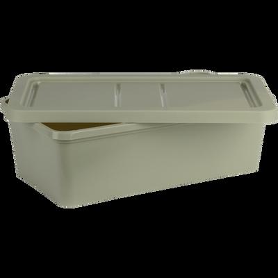 Boîte de rangement en plastique vert olivier H19xP10,5x34,5 cm-ANDATI
