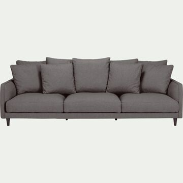 Canapé 5 places fixe en tissu - gris restanque-LENITA