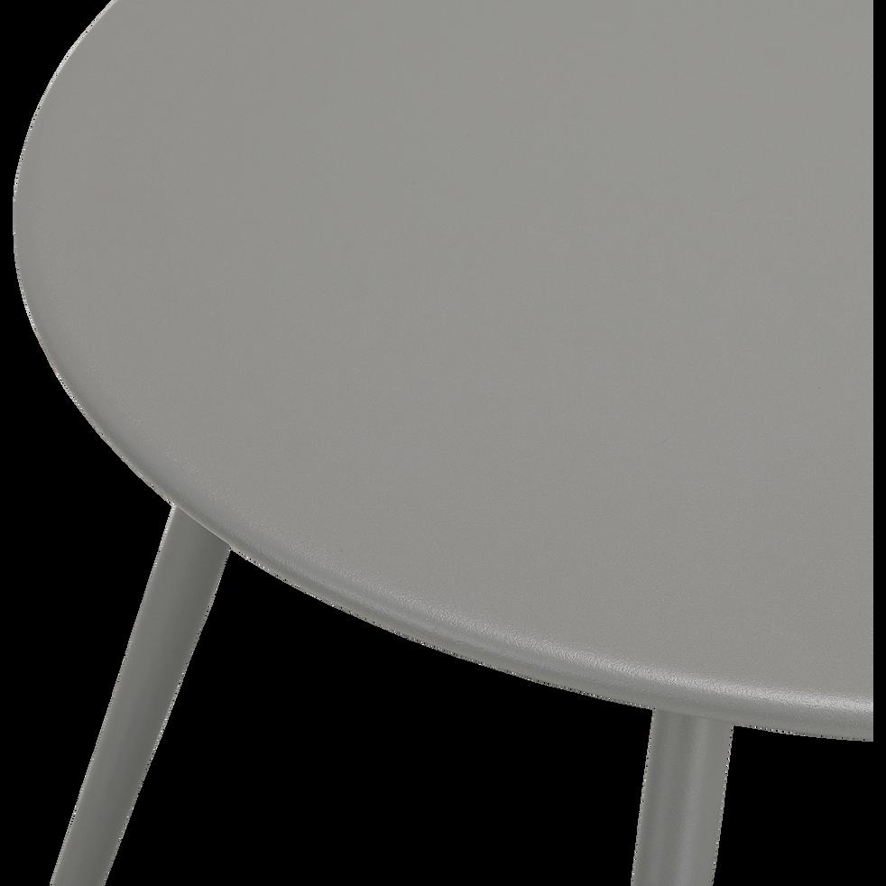VASTO - Table basse de jardin en acier gris restanque