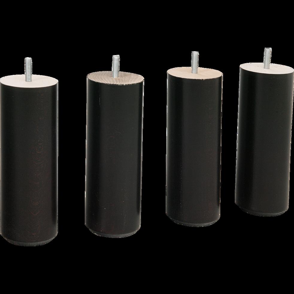 Pieds de sommier noirs H20 cm - jeu de 4-Pack