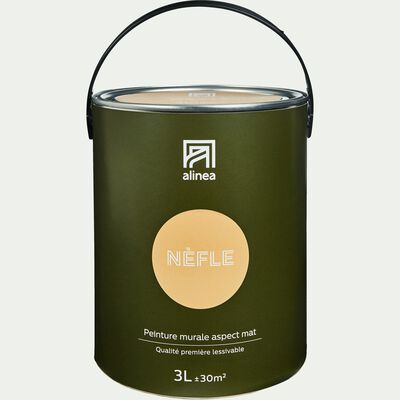 Peinture acrylique mate multi-supports - beige nèfle 3L-PEINTURE