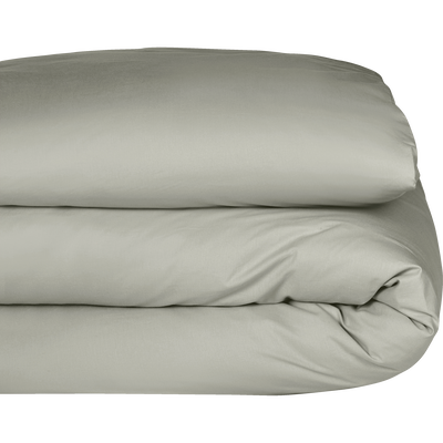 Housse de couette en coton Vert olivier 140x200cm-CALANQUES