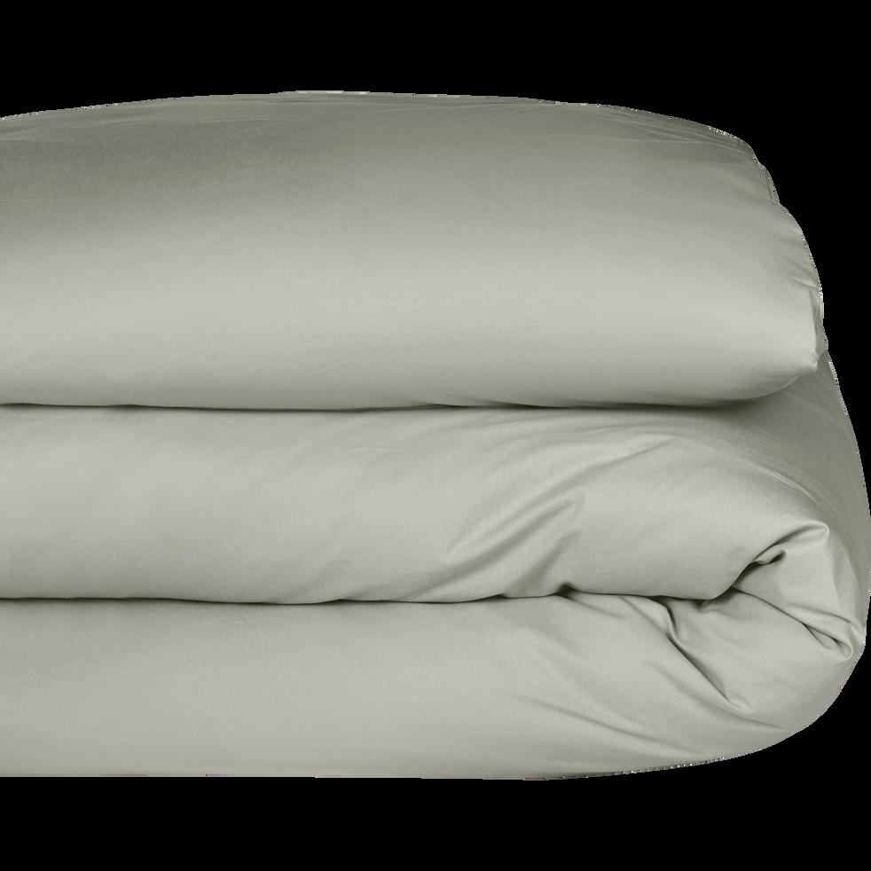 housse de couette en coton vert olivier 140x200cm calanques 140x200 cm promotions alinea. Black Bedroom Furniture Sets. Home Design Ideas