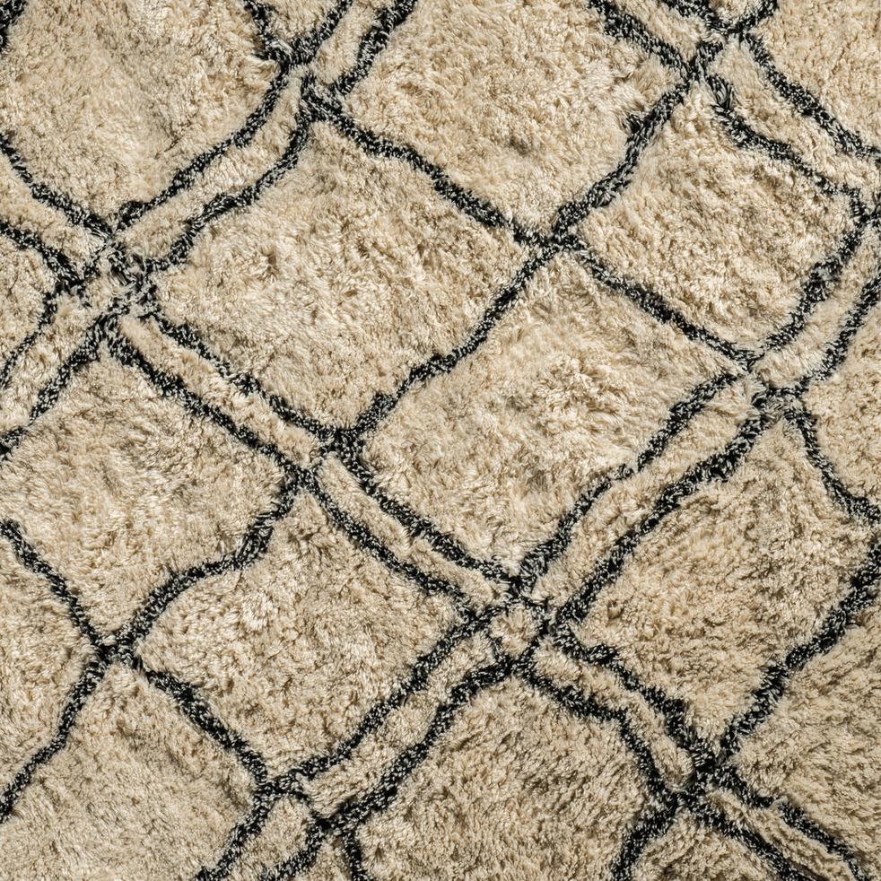 tapis tiss cru et noir 140x200cm berbere 140x200 cm. Black Bedroom Furniture Sets. Home Design Ideas