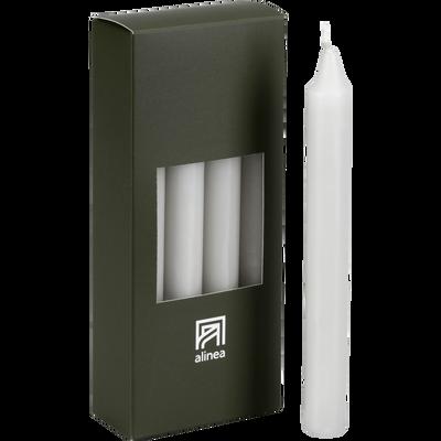 8 bougies flambeaux gris borie H18cm-HALBA