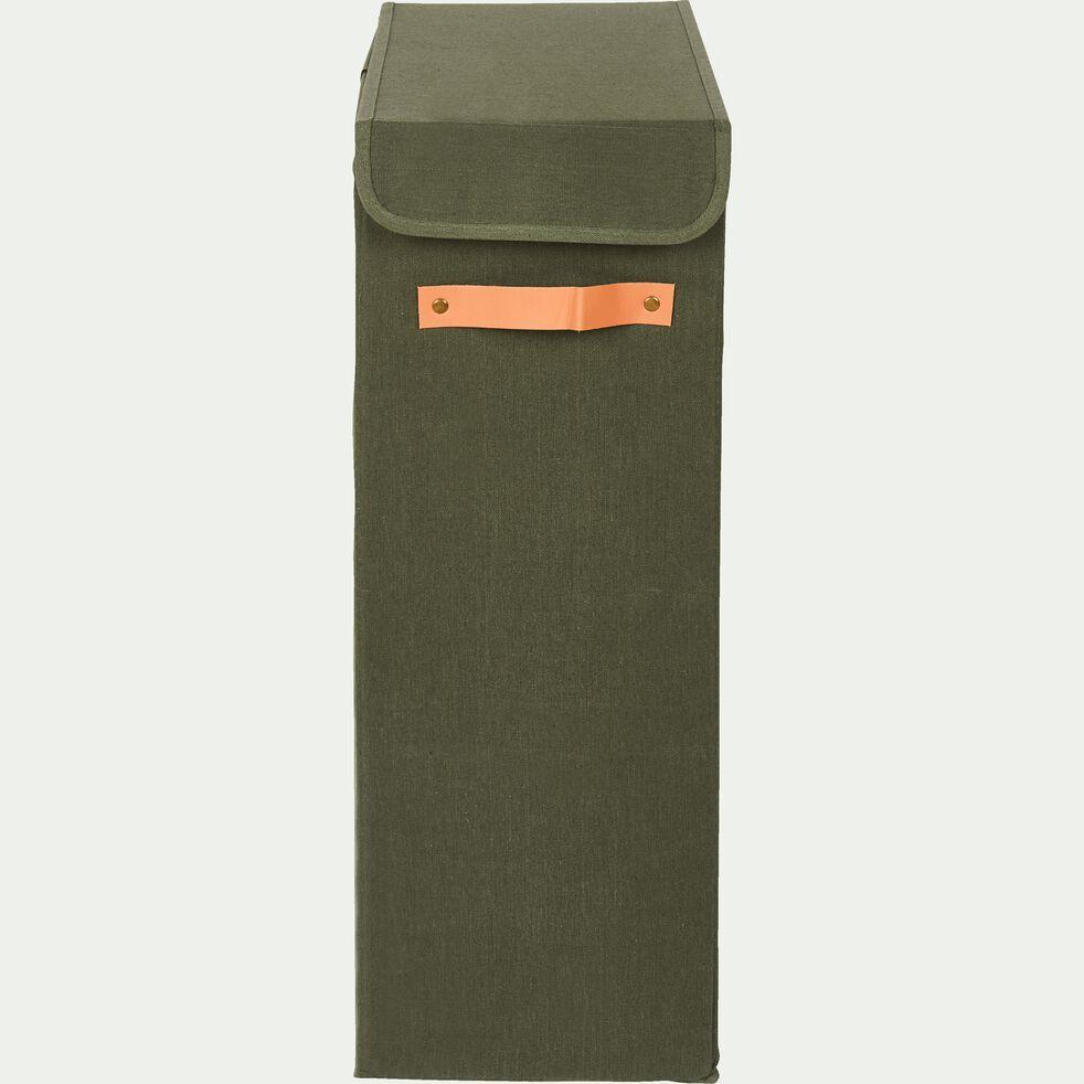 Panier à linge en polycoton - vert cèdre H60xL38cm-ERRO
