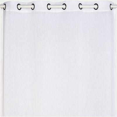 Voilage à œillets en polyester - blanc ventoux 135x250cm-DUNE