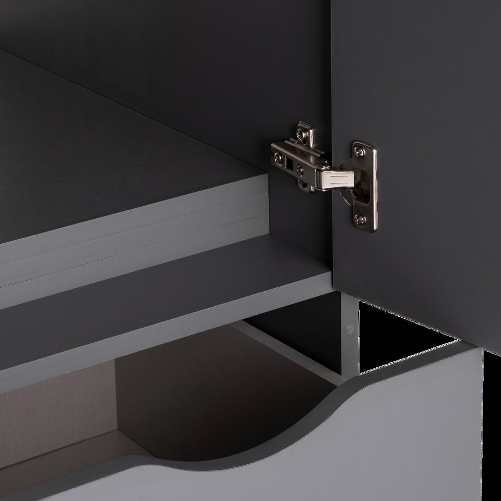 Armoire 2 portes et 2 tiroirs gris anthracite-COLIN