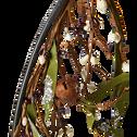Anneau noir de couronne de Noël D50cm-abora
