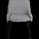 Chaise en tissu gris borie-TINOU