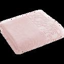 Drap de bain 100x150cm à liteau rose-BULLY