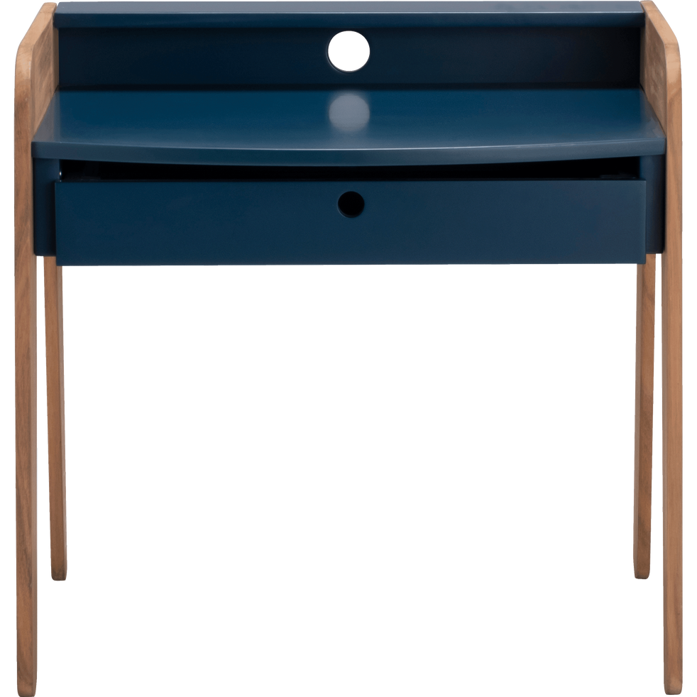 bureau en acacia pour enfant bleu figuerolles raphael chaises et bureaux enfant alinea. Black Bedroom Furniture Sets. Home Design Ideas