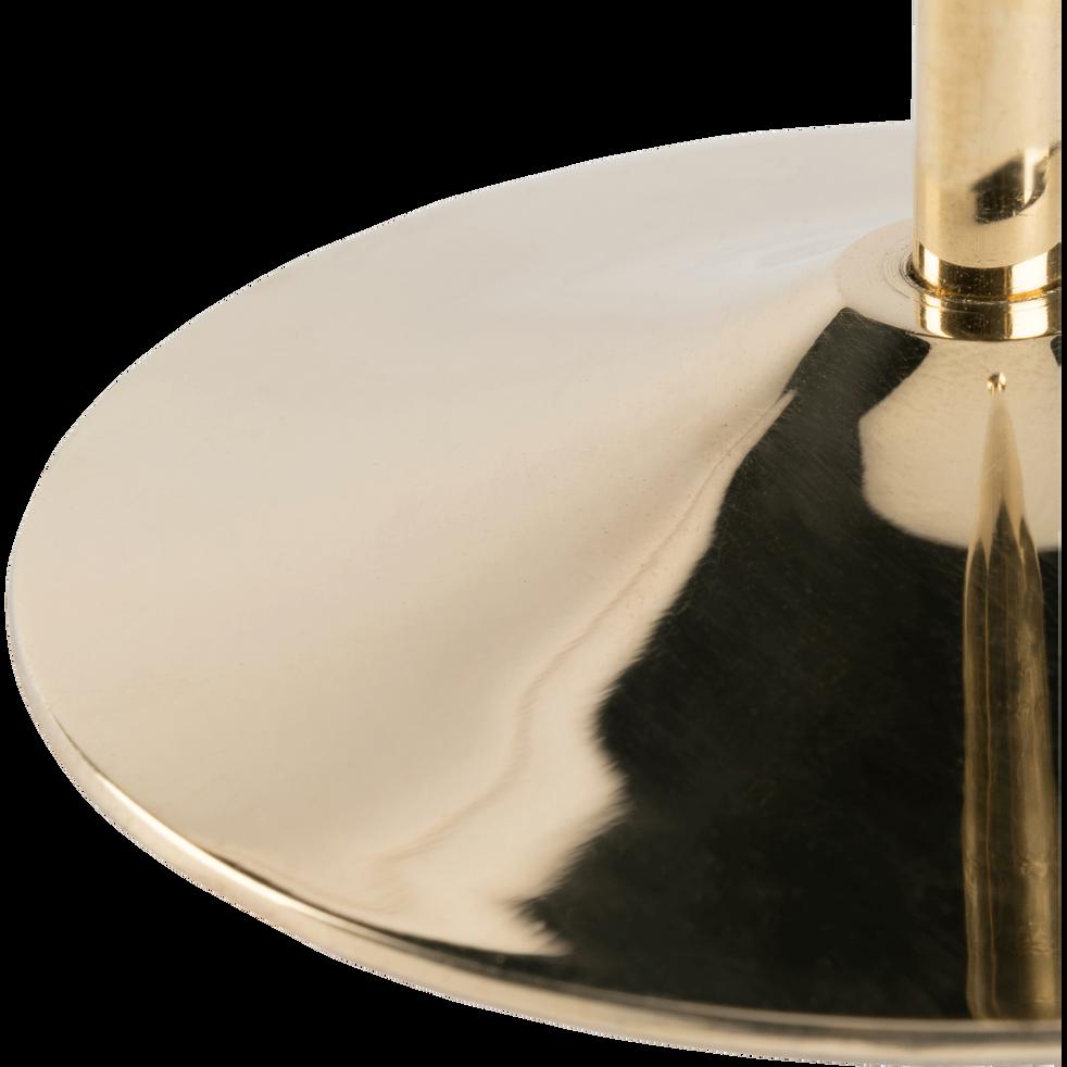 Bougeoir doré H30,5cm-CETI