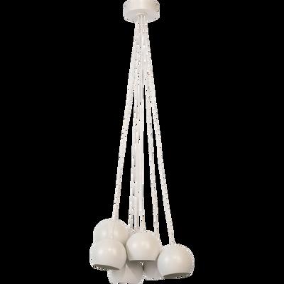 Suspension en métal blanc 7xD18cm-BALL