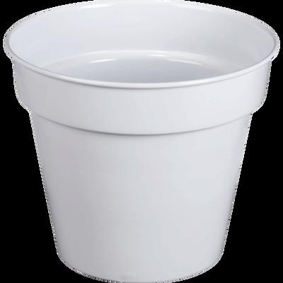 Pot / Cache-pot blanc en fer H23xD27cm-FLORA