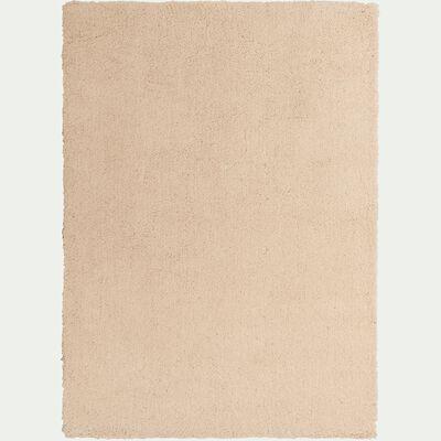 Tapis shaggy - beige roucas 120x170cm-CELAN